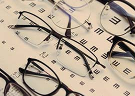 Eyeglasses on Eye Exam Sheet | LRYOH