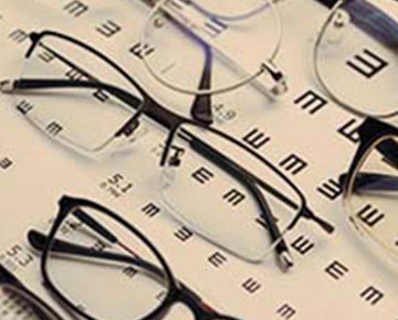 Eyeglasses on Eye Exam Sheet | LRYOH